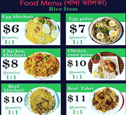 Some of Country Foodstuff's Halal food offerings for takeout in Bedford. - COUNTRY FOODSTUFF & VOGUE