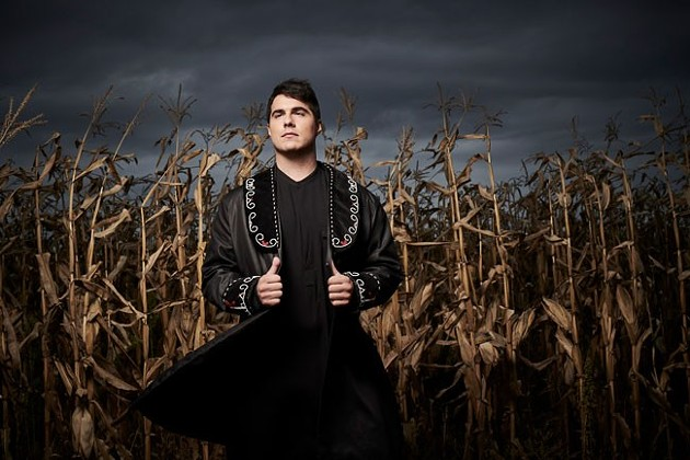 Jeremy Dutcher—the Indigenous musicologist turned superstar—chats and performs alongside the National Arts Centre's orchestra music director Thursday. - MATT BARNES
