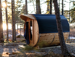 The isolated saunas at Sensea Nordic Spa will make you forget all your worries. - SUBMITTED