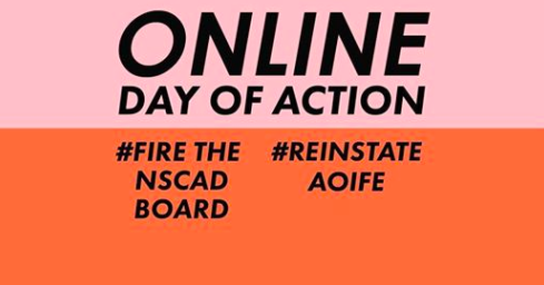 The Friends of NSCAD group is flooding its social media feeds today in solidarity with the recently dismissed, former president Aoife Mac Namara. - FACEBOOK SCREENSHOT