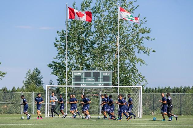 The Halifax Wanderers training on UPEI's Alumni Field before the Island Games, which begin this week. - HALIFAX WANDERERS