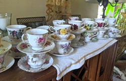 Teacups prepped and ready for their party guests. - CAORA MCKENNA