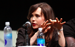 Page speaking at the 2013 San Diego Comic Con for X-Men: Days of Future Past. - GAGE SKIDMORE, VIA WIKICOMMONS