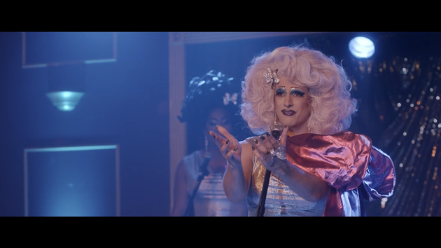"Nova Scotia's Allister MacDonald—who plays a drag performer in Stage Mother—says the diverse, queer-heavy cast gave the film ""a familial understanding and chemistry onscreen in a very specific way that I don't know that I've seen before."" - SUBMITTED STILL"