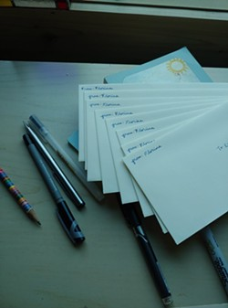 The prescribed poetry of from:Florine, ready to be mailed out