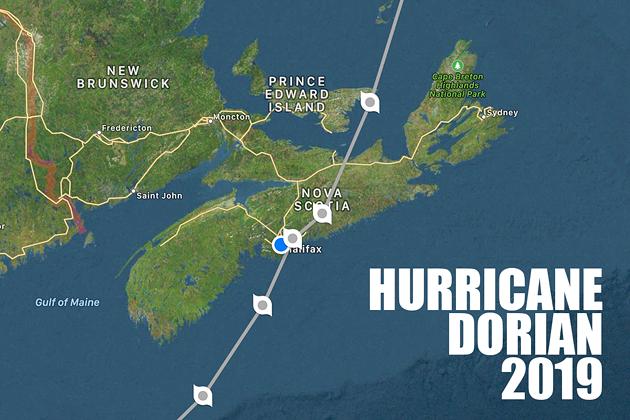 Last year Hurricane Dorian came ashore aiming right at Halifax. - HURRICANES PRO APP