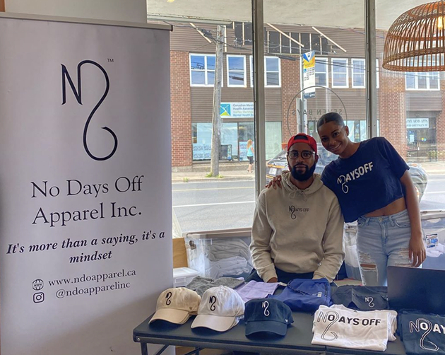 Chaz Samuel and Shayna Cort of No Days Off apparel will be back for another pop-up in Seven Bays Bouldering. - INSTAGRAM