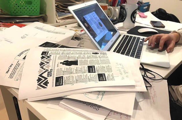 Working on The Coast's second print issue of the pandemic. Watch for it coming out tomorrow with the city elections on the cover. - THE COAST