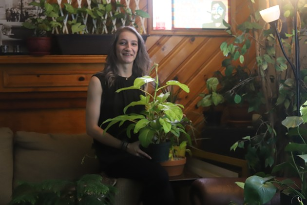 Patry with her plants at home in Dartmouth. - VICTORIA WALTON