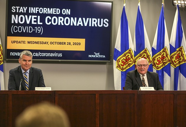 With fears of community spread spreading, today's briefing is more urgent than usual. - COMMUNICATIONS NOVA SCOTIA