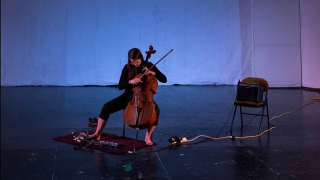 Composer and cellist Emily Kennedy is the current artist-in-residence at suddenlyLISTEN. See her debut some new songs Friday.