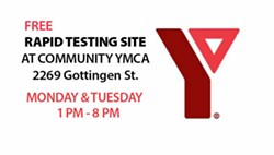 Get a rapid C19 test today and tomorrow at the Gottingen Street YMCA. - VIA FACEBOOK