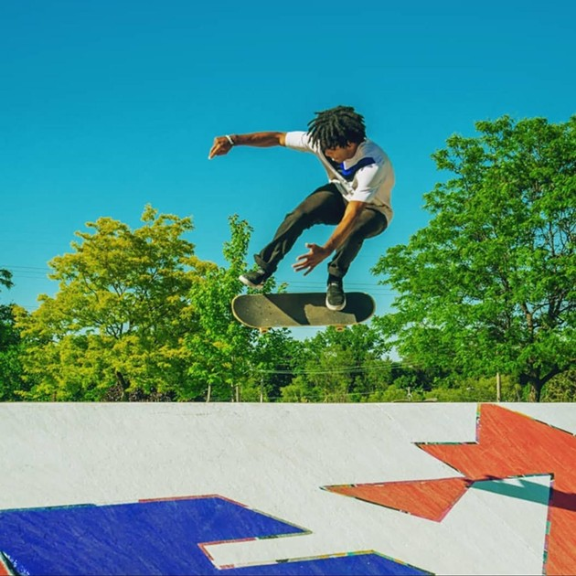 Tayvon Clarke has been skateboarding since Junior High. - SUBMITTED