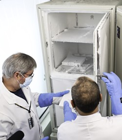 This ultra-low freezer keeps the vaccines at -70 degrees Celsius. - COMMUNICATIONS NOVA SCOTIA