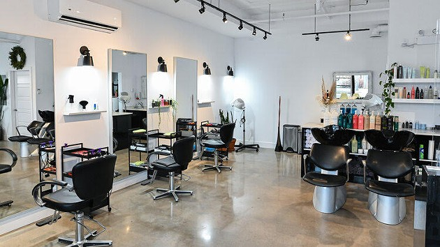 Inside One Block Barber Shop's Almon Street location. - SUBMITTED