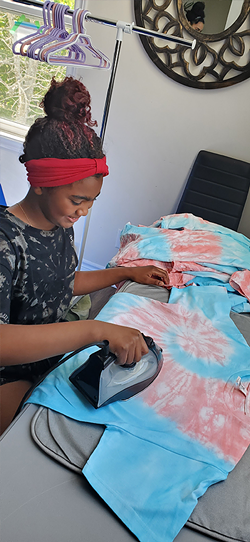 Crafting turned into a business for Jahtaya Skeete after her mom posted a pic of Skeete's tie-die. - SUBMITTED