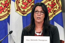 """""""The fourth wave has been rolling across Canada, in New Brunswick and PEI, and now it's here,"""" says health and wellness minister Michelle Thompson. - COMMUNICATIONS NOVA SCOTIA"""