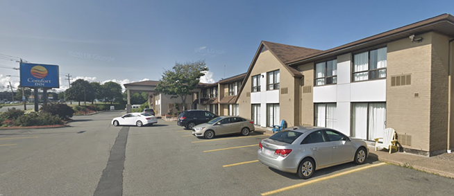 The city coordinated rental of 10 rooms at the Comfort Inn in Dartmouth. - GOOGLE MAPS