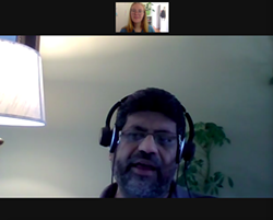 Rajesh Rajaselvam, pictured during a Zoom interview. - THE COAST