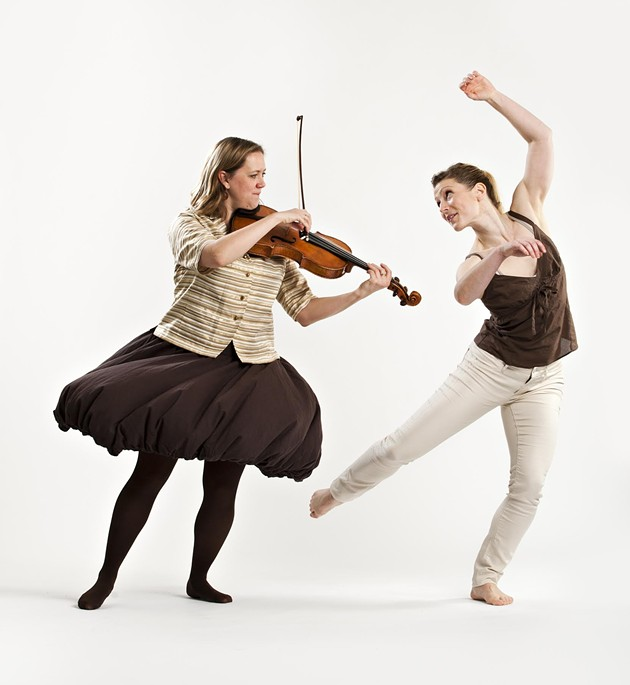 Dancer Heather Laura Gray and musician Tawnya Popoff from Speaking in Ligeti - EMILY COOPER