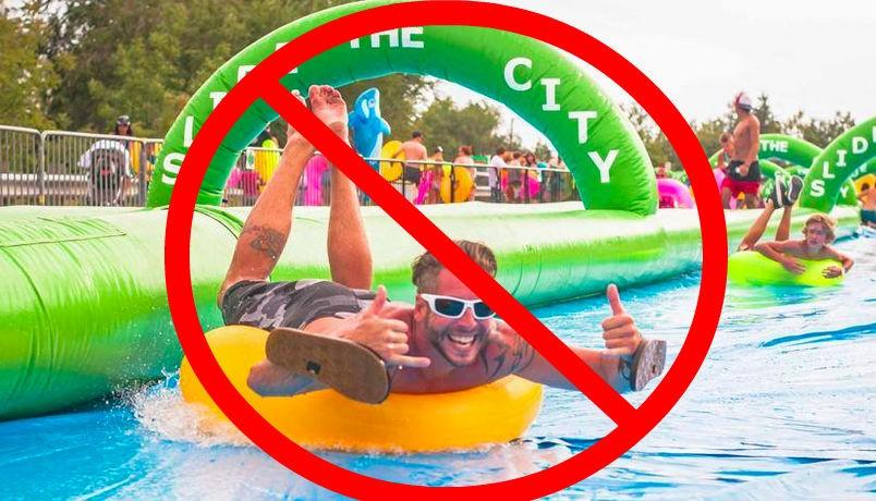 Slip, sliding away... - VIA SLIDE THE CITY ON FACEBOOK.