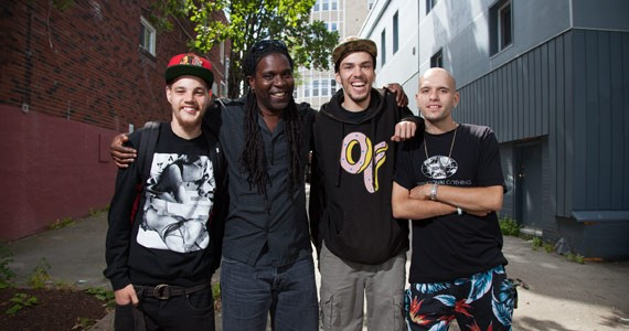 (l-r) iMOVe's Delton Colley, Sobaz Benjamin, MJ Loppie and Kyle Hamilton. Jordan Blackburn - JORDAN BLACKBURN