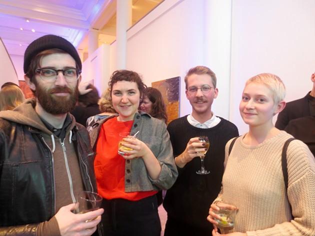 Coast cartoonist Paul Hammond (left) & friends - ADRIA YOUNG