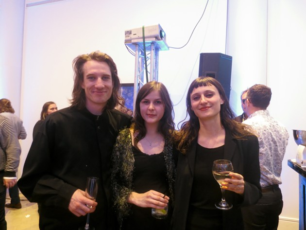 Hannah Guinan (centre; director, Khyber Centre for the Arts) & friends - ADRIA YOUNG