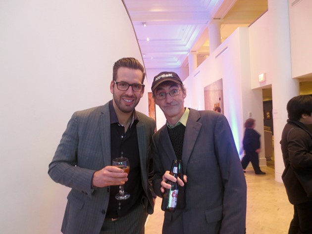 Paul Pettigrew (AGNS Young Patrons Circle) & other guy - ADRIA YOUNG