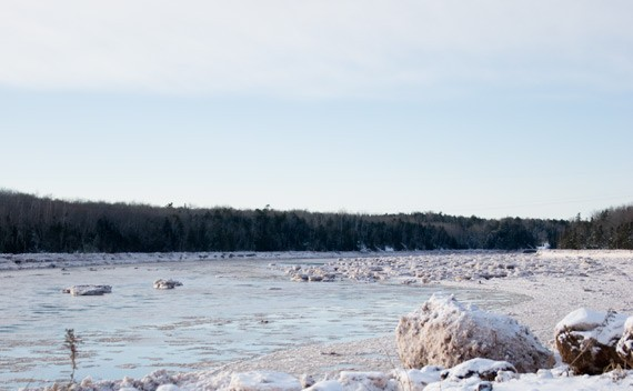 The frozen shores of the Shubenacadie River. - JAMES STEWART