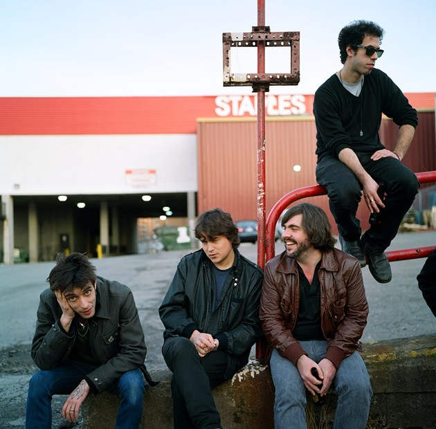 Look familiar? It's Wolf Parade behind The Marquee - C/O WOLF PARADE (SEMI-PRECIOUS STONE)