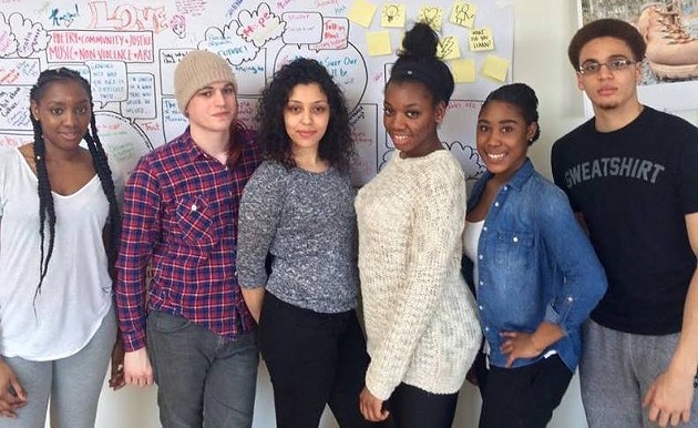 From left to right: Kyturera Jones, Emily Muse, Christiana Tesfai, Donntayia Jones, Nikaya Paris, and Josh Creighton. - DANIELLE CAMERON