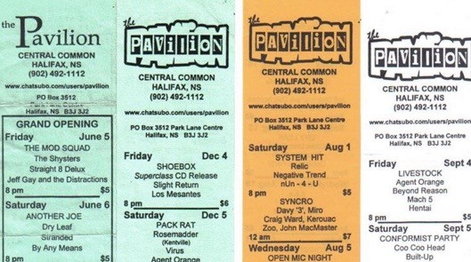 The Pavilion 'slips' of upcoming shows with a $1-off-entry coupon