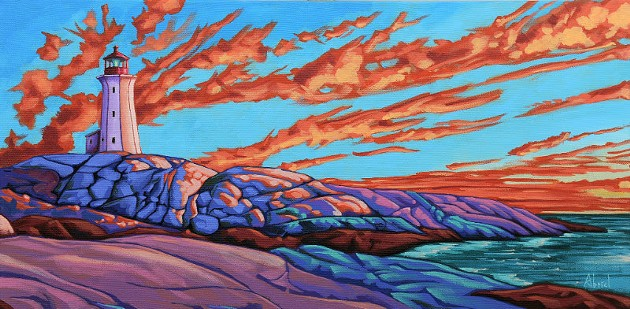 Danny Abriel's colourful spin on Canadian Landscapes (see #7). - DANNY ABRIEL