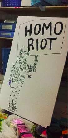 Signs created during last year's Rad Pride fest. - RAD PRIDE'S FACEBOOK PAGE