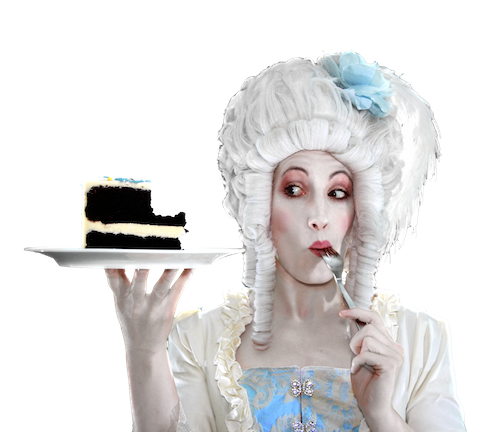 Busker Kate Mior (acting as Marie Antionette) will have her cake and eat it too at the Westin's Busker brunch (see five). - IMAGE COURTESY OF BUSKERS FESTIVAL