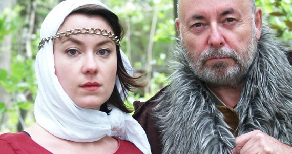 Lear and Cordelia are played by IRL daughter-father team Catherine and Paul Rainville. - JESSIE MACLEAN