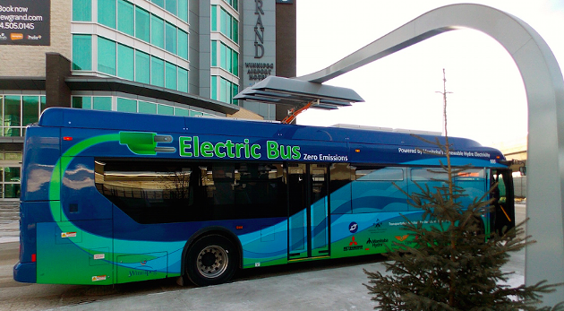 Electric buses, like this one at an airport charging station in Winnipeg, could soon be on HRM's streets. - VIA WINNIPEG TRANSIT