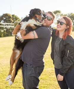 Missed Tiki the Bernese mountain dog and her owners Kristen and Adam while they were at Needham Park? Don't worry, you can follow her life adventures on Instagram at @tikiberner - DYLAN CHEW