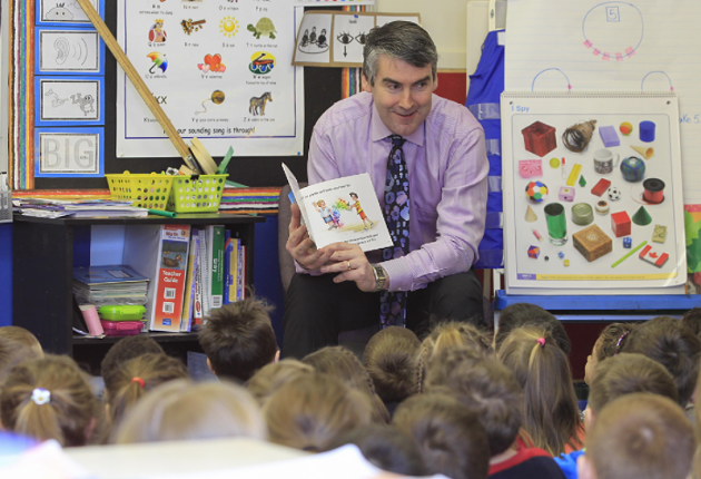 Stephen McNeil during a visit to Prospect Road School in Halifax. - VIA THE PREMIER'S OFFICE