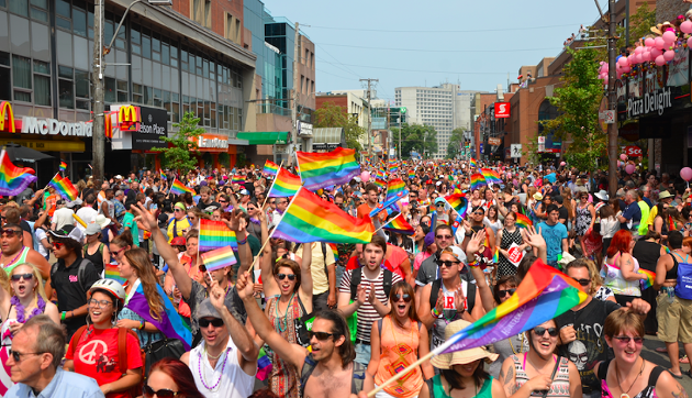 The Halifax Pride parade two years ago on Spring Garden Road. - DYLAN WHITE