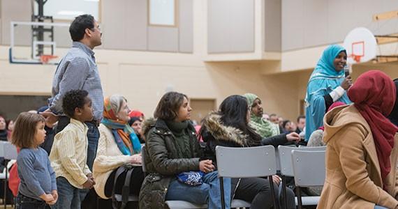 Attendees at the Ummah Masjid's interfaith event this past weekend. - PATRICK FULGENCIO