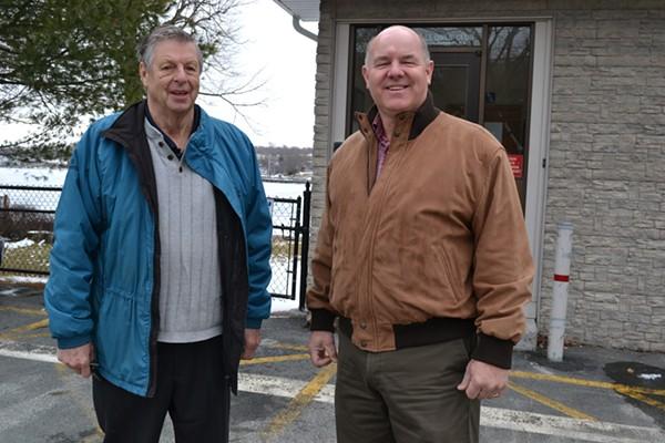 Owl's Club member Glen Bagnell (left) and president Kim Conrad. - REBECCA DINGWELL