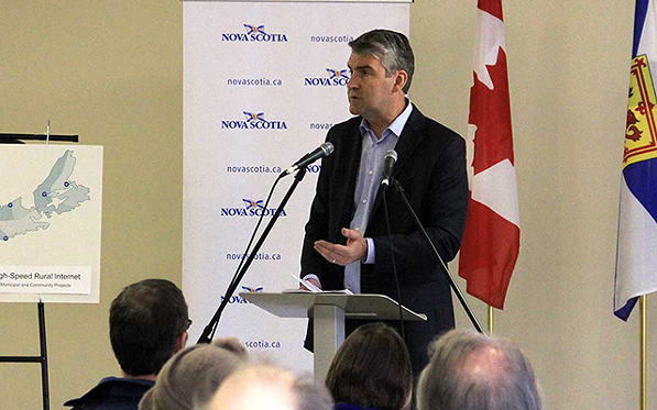 Premier Stephen McNeil announcing new funding for high-speed internet last month. - VIA NS LIBERALS