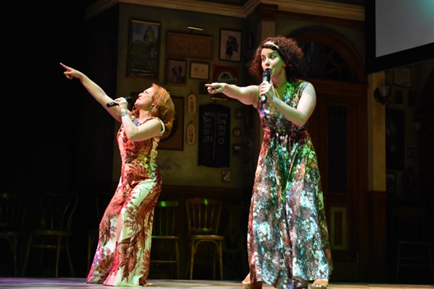 """Donna Garner and Laura Caswell perform """"Dancing Queen."""" - REBECCA DINGWELL"""