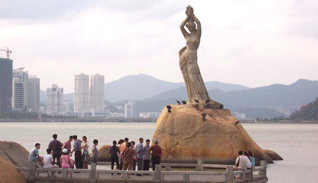 Zhuhai city's Fisher Girl statue. - VIA WIKIMEDIA COMMONS