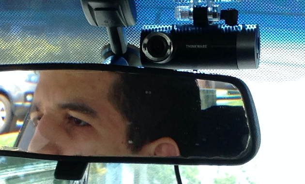 A $100 Best Buy-bought dashboard camera on a Halifax taxi. - THE COAST