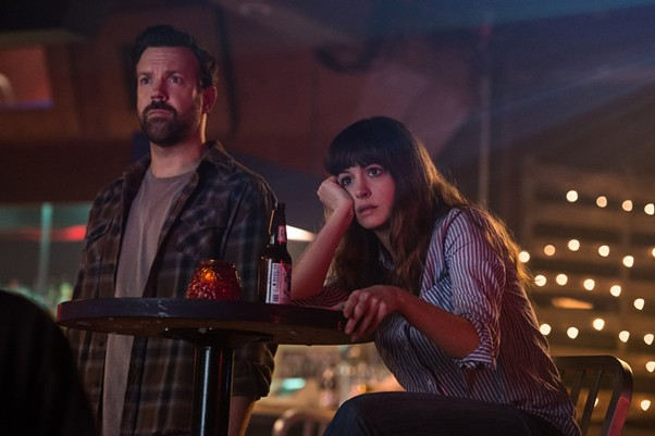 Jason Sudeikis and Anne Hathaway in Colossal. - VIA IMDB