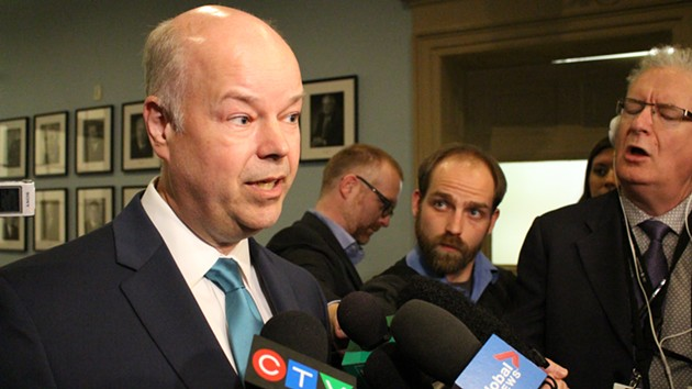 Progressive Conservative leader Jamie Baillie on Thursday at Province House. - THE COAST