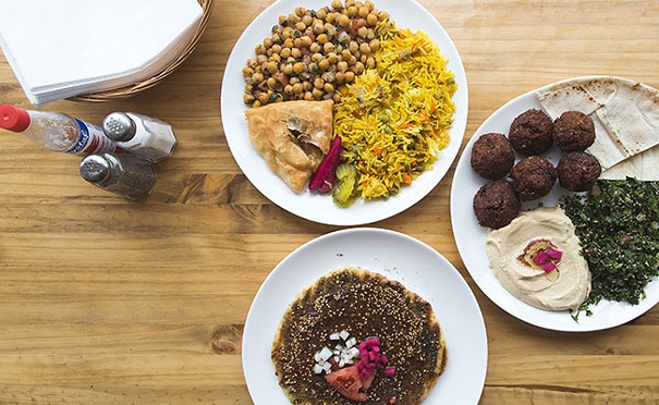 Za'atar, samosa, falafel and hummus are among the Mid-East's wonders. - DYLAN CHEW